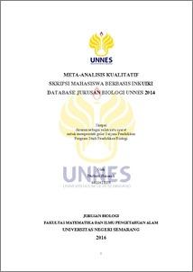 Meta Analisis Kualitatif Skripsi Mahasiswa Berbasis Inkuiri Database Jurusan Biologi Unnes 2014