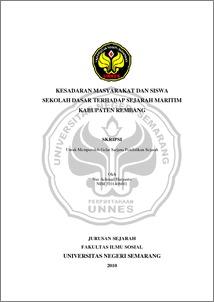 Abstrak Kesadaran Masyarakat Dan Siswa Sekolah Dasar Terhadap Sejarah Maritim Kabupaten Rembang