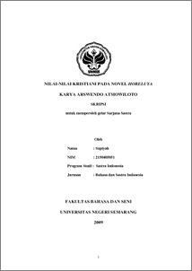 Nilai Nilai Kristiani Pada Novel Horeluya Karya Arswendo Atmowiloto Skripsi Jurusan Bahasa Dan Sastra Indonesia
