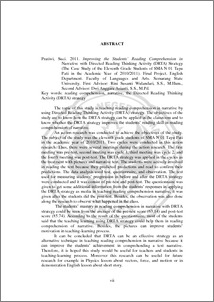 improving reading comprehension thesis This publication reviews the research on comprehension instruction published since the 2000 text structure to young readers to improve their reading comprehension.